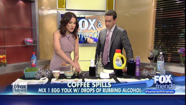 Stain Removal 101 on FOX & Friends